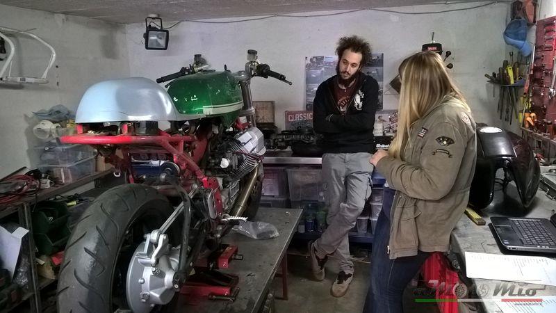 Nico Dragoni e il la Moto Guzzi V11