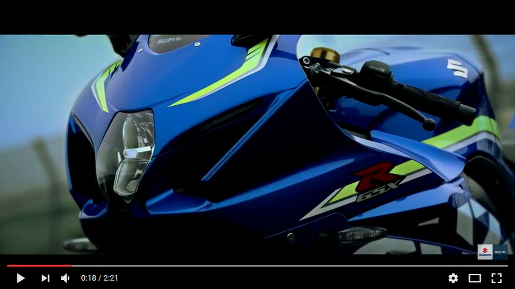 VIDEO: nuova Suzuki GSX-R 1000