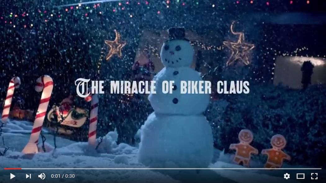 VIDEO: The Miracle of Biker Claus by Harley-Davidson