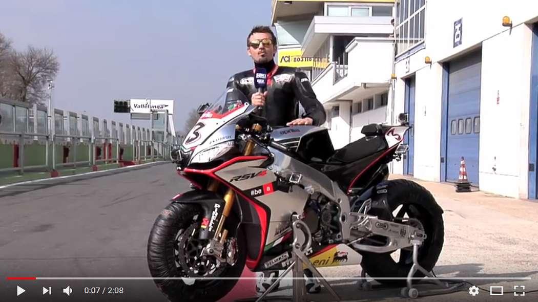 Aprilia RSV4 Superbike Onboard with Max Biaggi