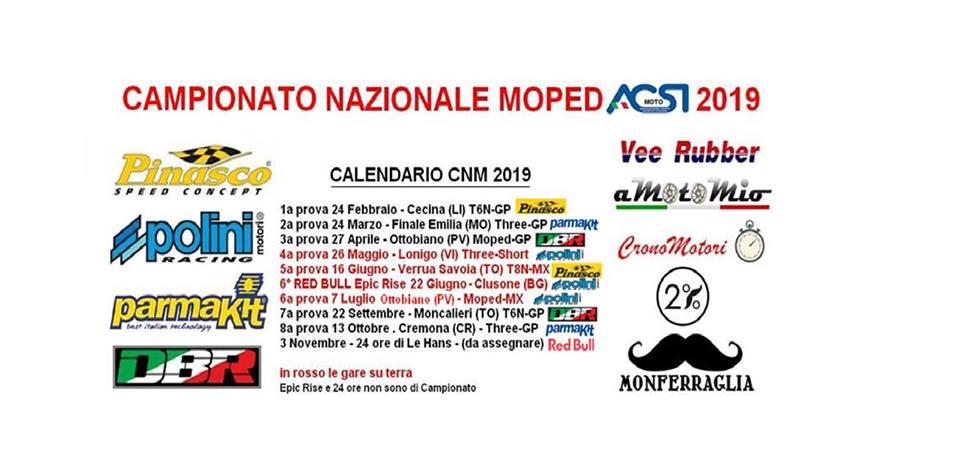 Nazionale Calendario.Calendario Nazionale Moped Acsi Moto 2019
