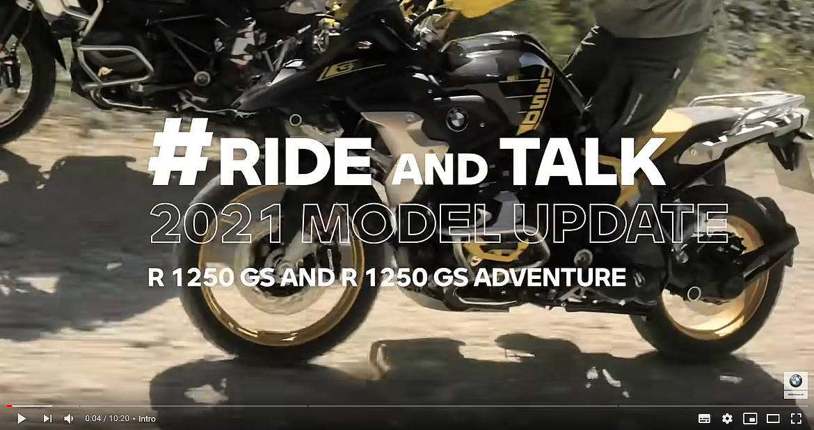 #RideAndTalk - 2021 Model Update BMW R 1250 GS & R 1250 GS Adventure