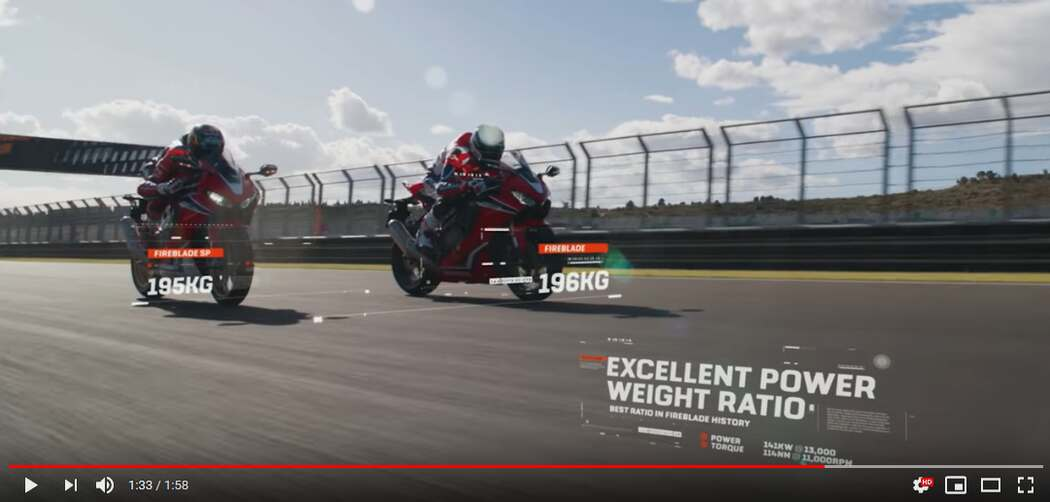Honda Fireblade: Fast, technologically advanced and lighter than ever