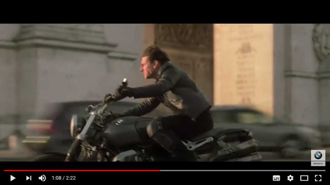 La BMW nineT nel trailer di Mission Impossible 6
